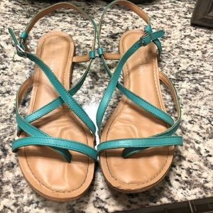Franco Sarto Turquoise Strappy Sandals